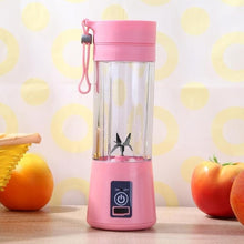 Load image into Gallery viewer, Portable Blender Mixing 380ml Plastic Smoothie Shakes Blender Extractor Mode USB Rechargeable