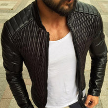 Load image into Gallery viewer, Fashion Men leather jacket  Autumn Casual PU coat Mens Motorcycle leather jacket S-3XL