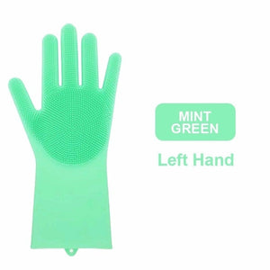Magic Silicone Gloves Scrubbing Gloves For Dishwashing With Scrubbers