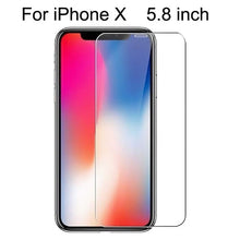 Load image into Gallery viewer, 10Pcs Tempered Glass For iPhone X XS MAX XR 4 4s 5 5s SE 5c Screen Protective Film For iPhone 6 6s 7 8 Plus X Glass Protector