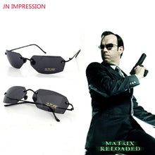 Load image into Gallery viewer, Rimless Classic Oval glasses Matrix Morpheus Sunglasses  UV400