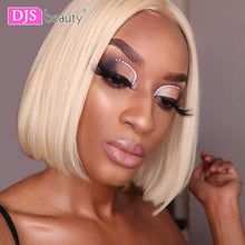 Load image into Gallery viewer, Blonde Lace Front Wig Brazilian 613 Short Bob 13x6 Lace Front Human Hair Wigs For Black Women 613 Lace Front Wig