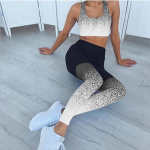 Chinese Style Printed Yoga Pants Women