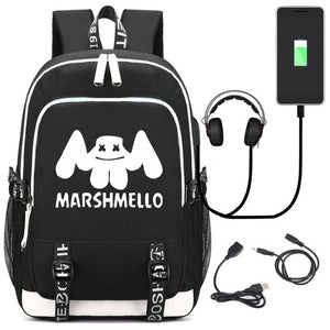 Cool school bag 2019 American mystery DJ Trendy usb laptop backpack