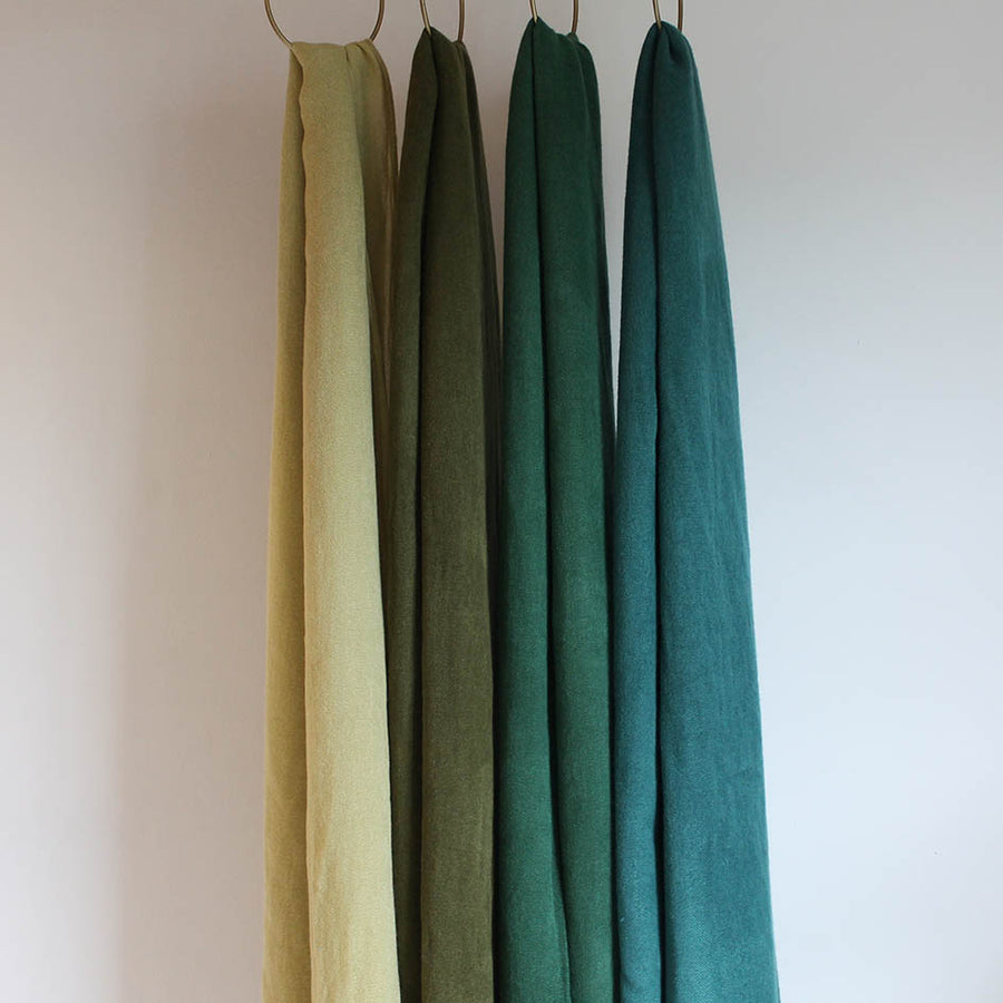 Soft Plain Knit Scarf in Spruce Green