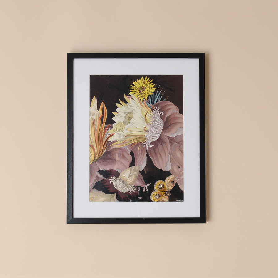 Framed Botanical Print Evening Flower