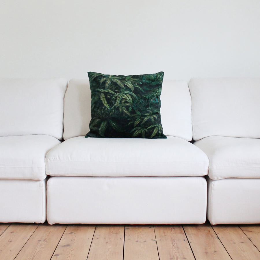 Jungle Fern Velvet Cushion