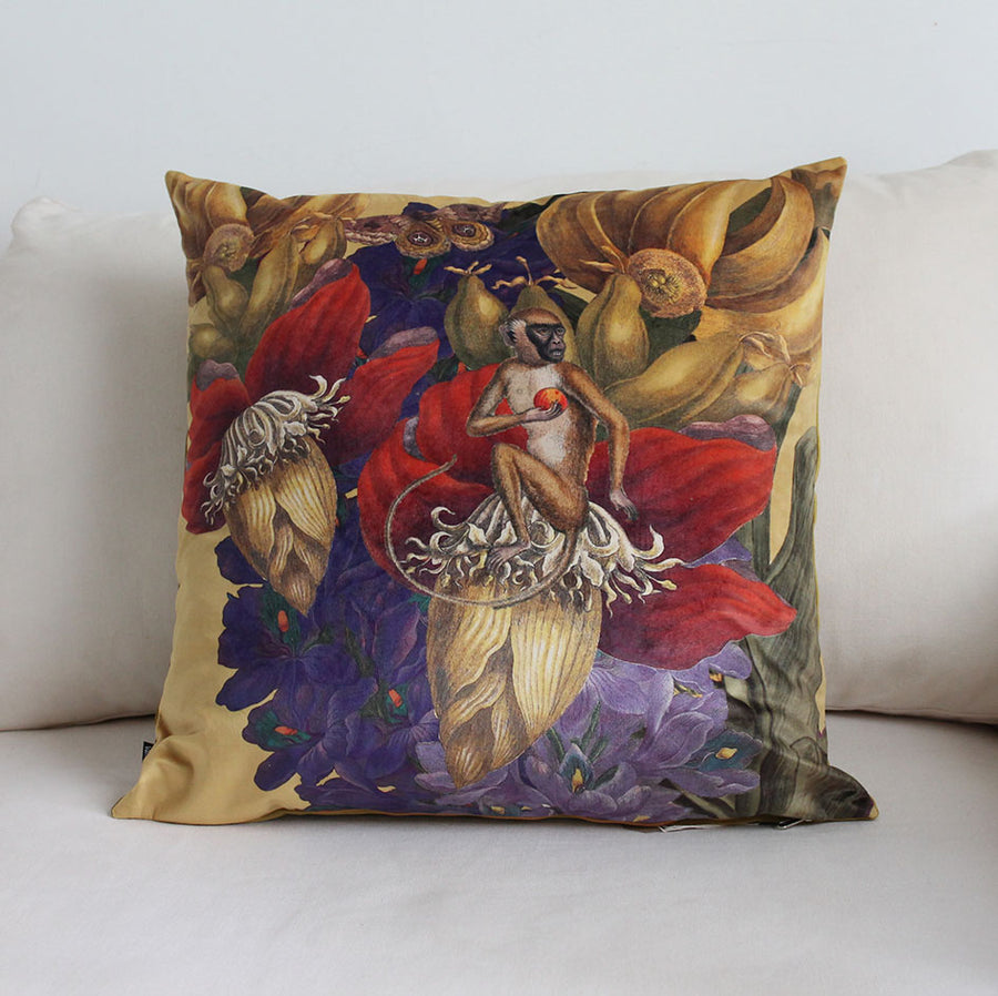 Jungle Monkey Velvet Cushion