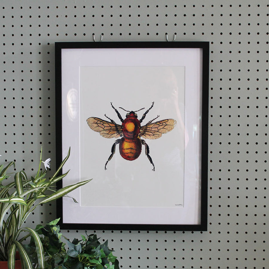 Framed Botanical Print Bee