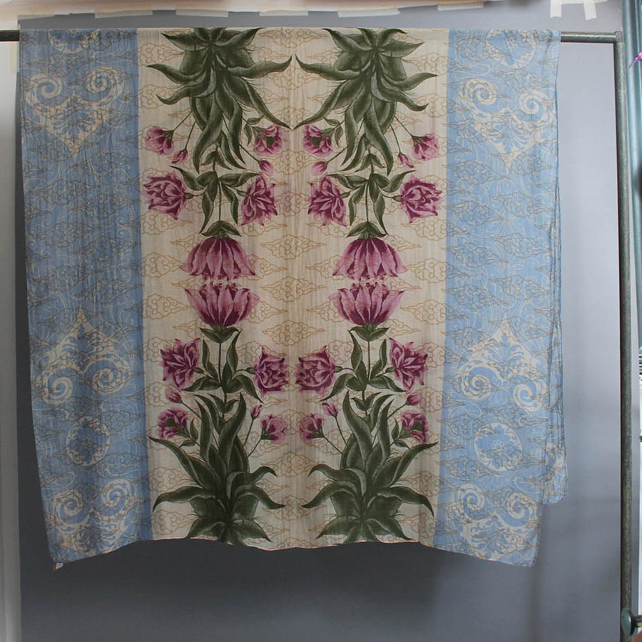 Scarf with Botanical Print