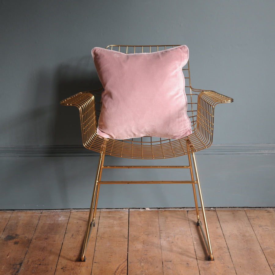 Velvet Cushion Dusty Pink 45cm x 45cm