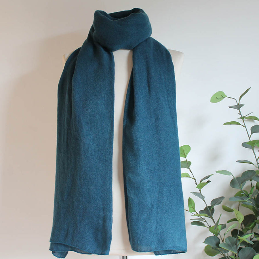 Soft Plain Knit Scarf in Airforce Blue