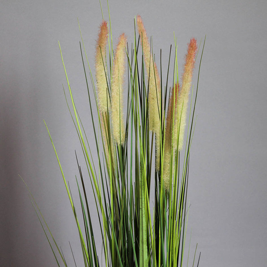 Faux Pink Tipped Grass Pot Plant