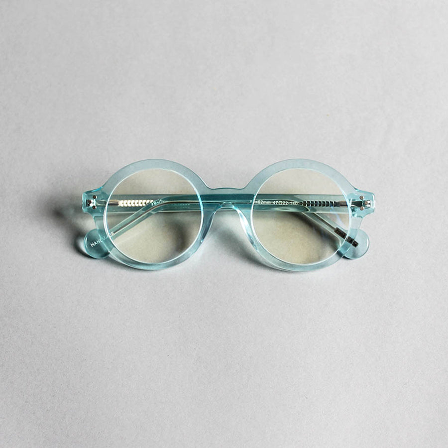 Frank + Lucie Round Reading Glasses - Blue Crystal