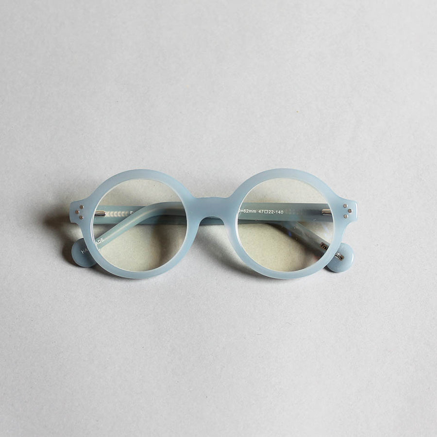 Frank + Lucie Round Reading Glasses - Cloudy Blue