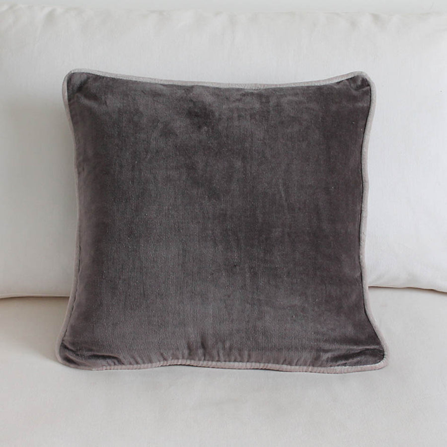 Velvet Cushion Dark Grey 45cm x 45cm