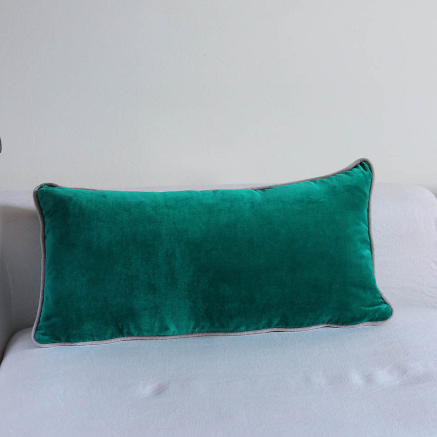 Emerald Velvet Oblong Cushion