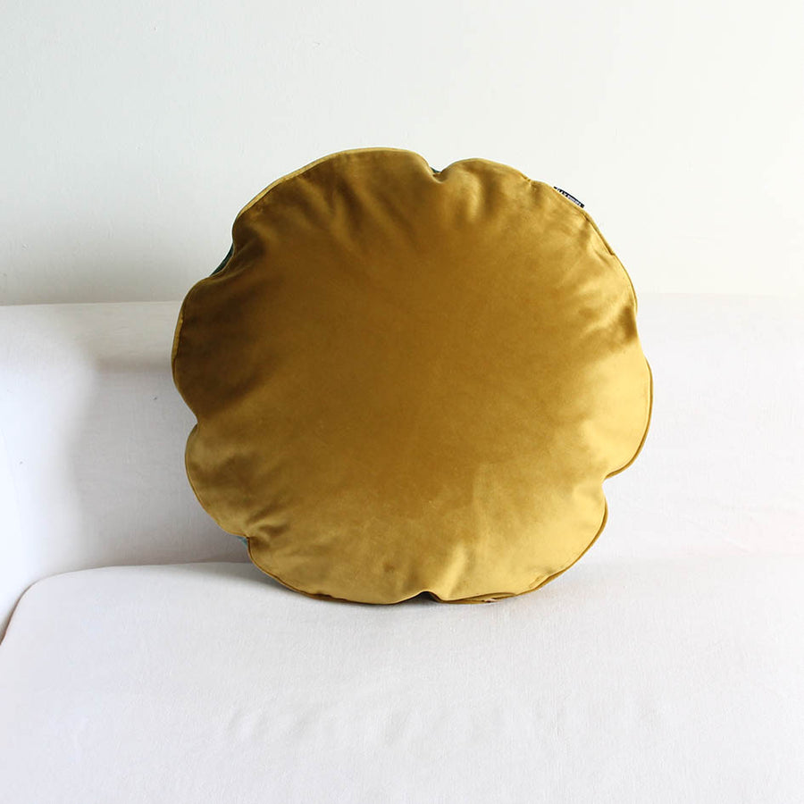 Round Velvet Exotic Print Cushion