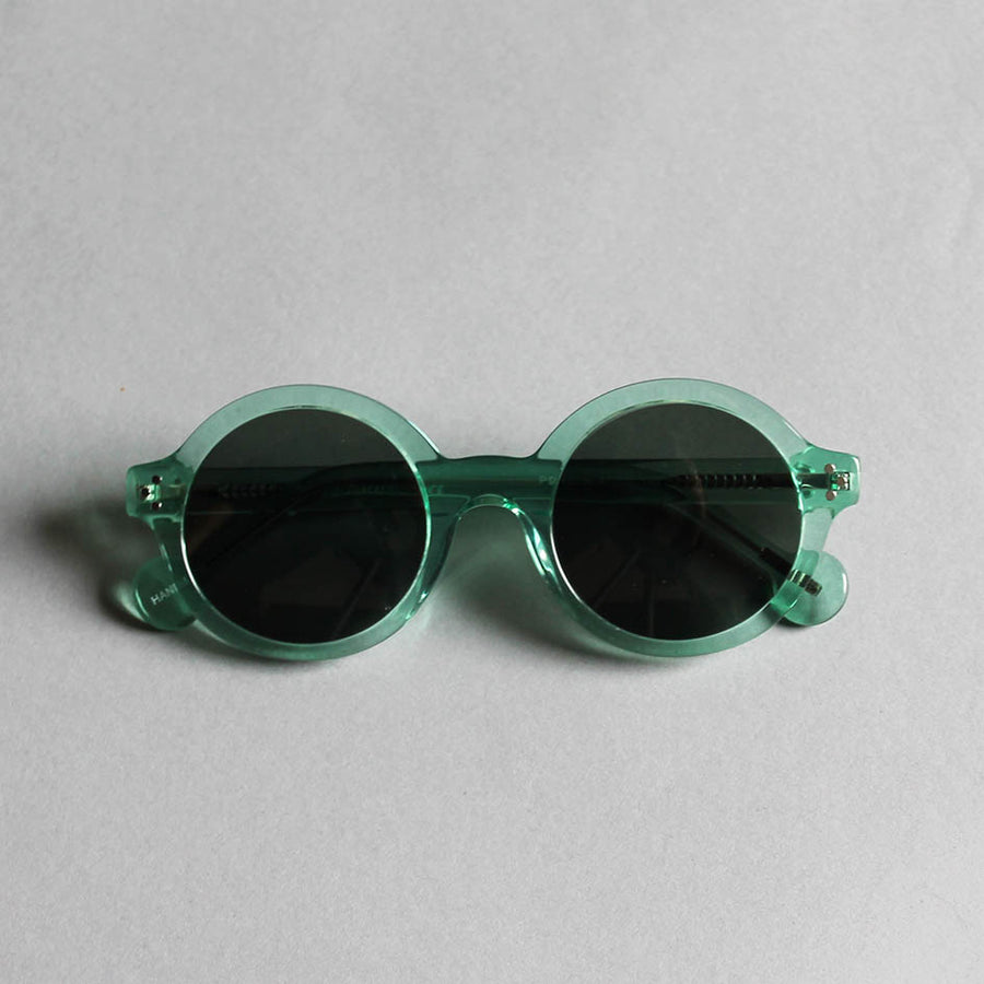 Frank + Lucie Round Sunglasses - Green Crystal