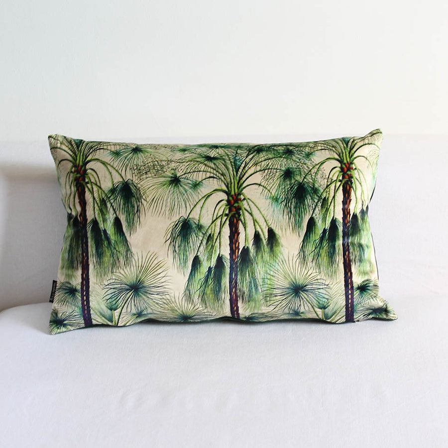 Velvet Multi Palm Print Cushion