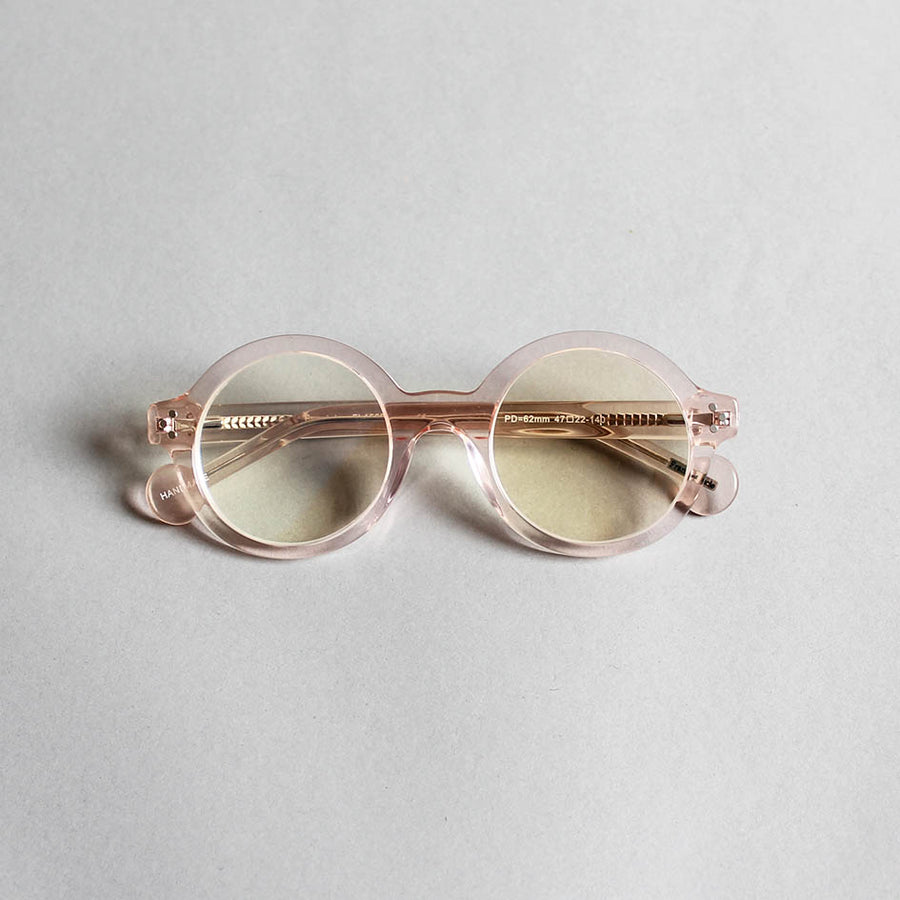 Frank + Lucie Round Reading Glasses - Crystal Pink