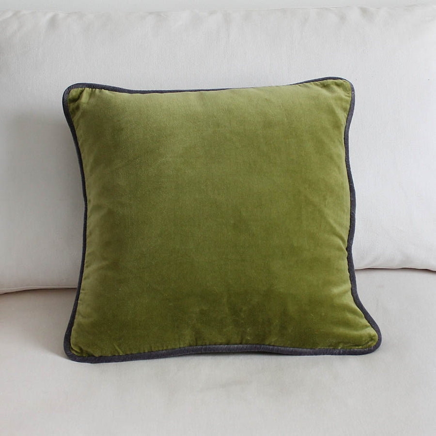 Velvet Cushion Moss Green 45cm x 45cm