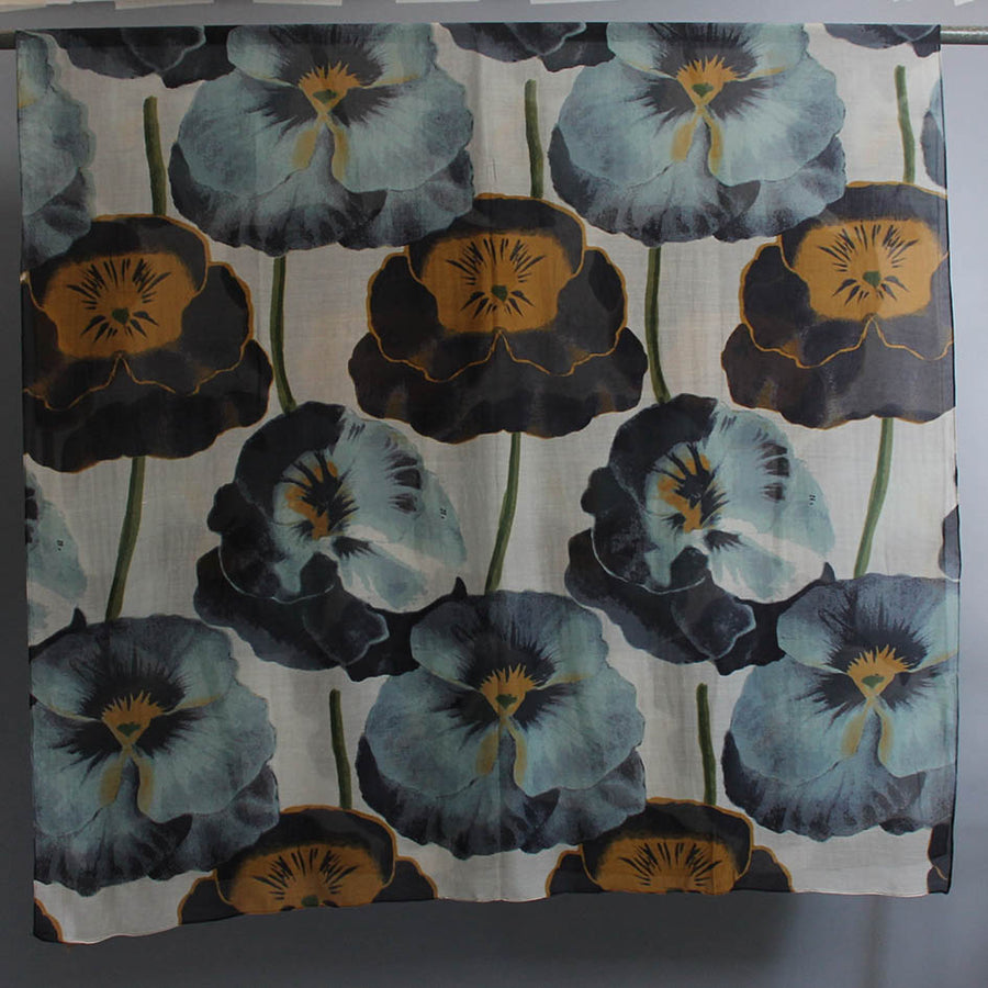 Scarf with Pansy Print