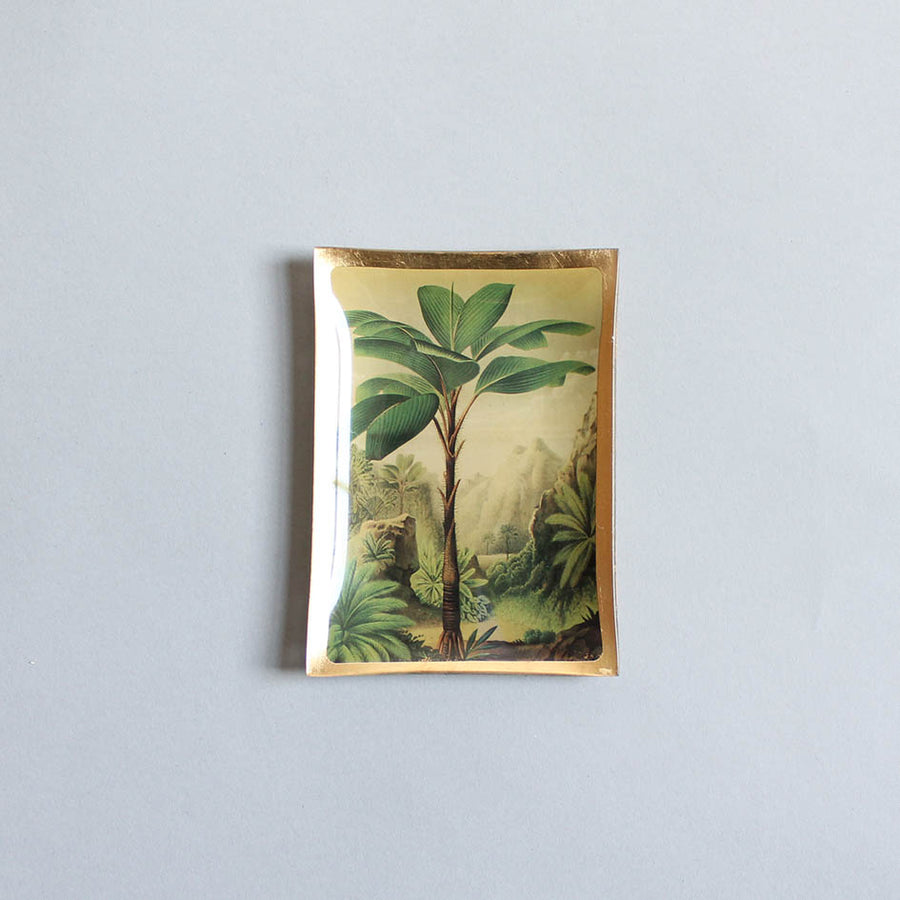 Palm Tree Glass Trinket Dish