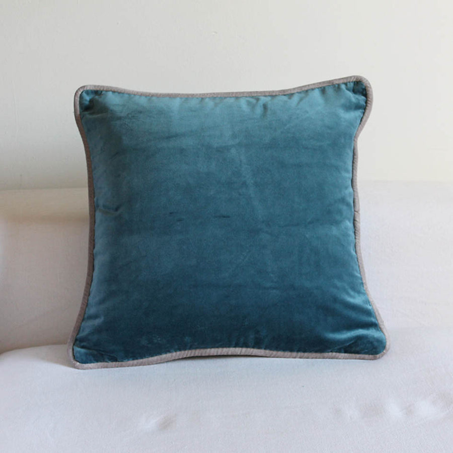 Velvet Cushion Smoke Blue 45cm x 45cm