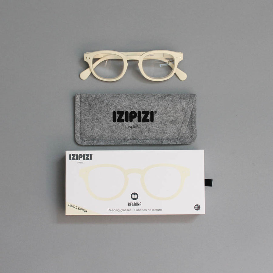 IZIPIZI Reading Glasses 'C' -Clay White