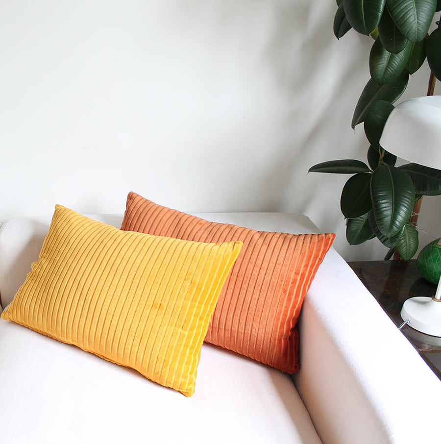 Burnt Orange Organic Cotton Cushion