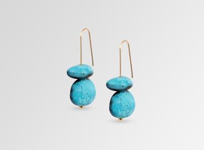 EARTH TEMPLE EARRINGS - Dark Turquoise