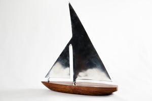Teak and Steel Sailboat