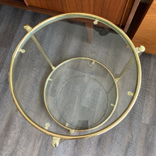 Load image into Gallery viewer, Vintage Round Brass Side Table