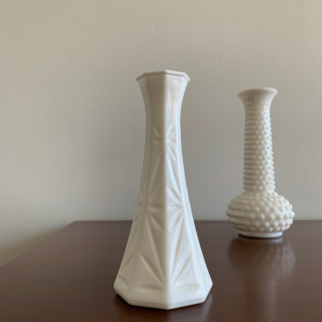 Vintage Milk Glass Vase by Hoosier Glass