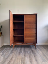 Load image into Gallery viewer, Vintage Teak Armoire