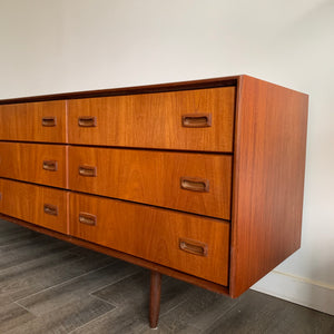 Vintage Teak 9 Drawer Dresser by Punch Design