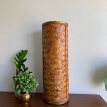 Load image into Gallery viewer, Vintage Woven Wicker Umbrella Stand / Vase