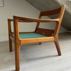"Ole Wanscher ""Senator"" Teak Lounge Chair for France and Son"