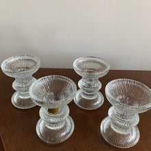 Load image into Gallery viewer, Set of 4 Vintage Textured Glass Candle Holders by Luminarc