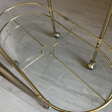 Load image into Gallery viewer, Vintage Brass Bar Cart
