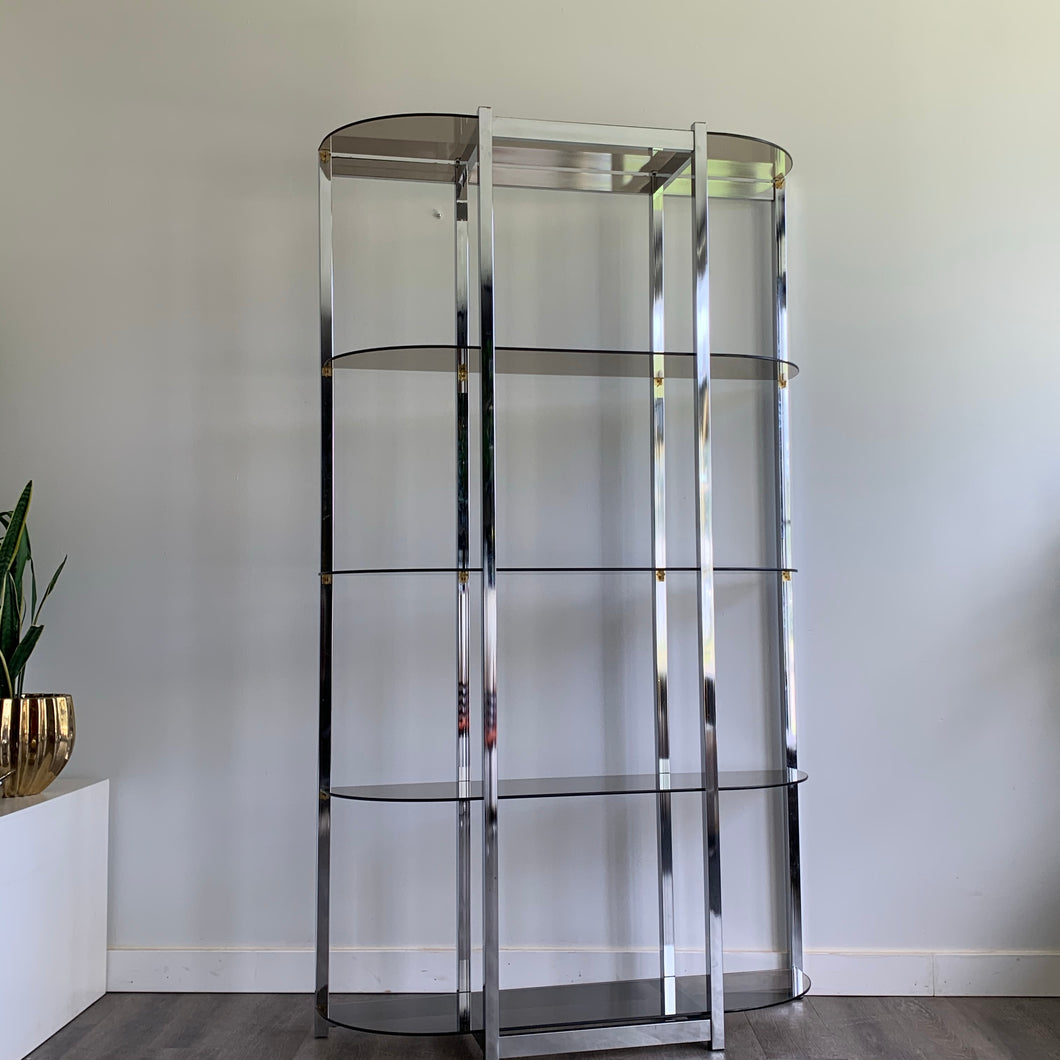 Vintage 70s Chrome Shelf