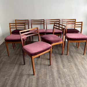 Set of 8 Vintage Rosewood Dining Chairs