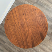 Load image into Gallery viewer, Vintage Round Walnut Side Table