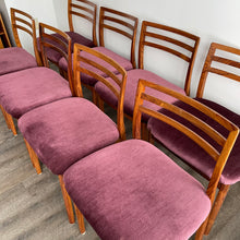 Load image into Gallery viewer, Set of 8 Vintage Rosewood Dining Chairs