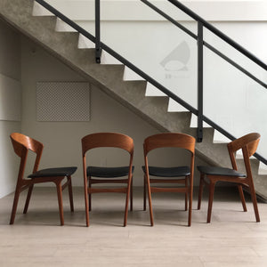 Set of Four Randers Mobelfabrik Teak Dining Chairs