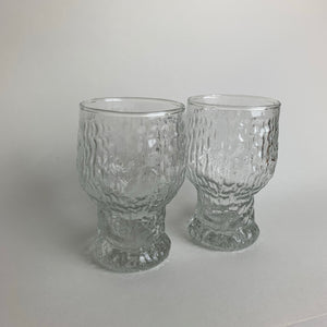 Two Ravenhead Siesta Ice Bark Beer Glasses