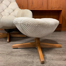 Load image into Gallery viewer, Mid Century Modern Swivel Egg Chair with Ottoman by Doerner