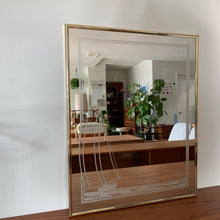 Load image into Gallery viewer, Vintage Brass Mirror