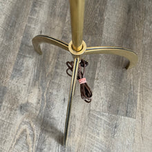 Load image into Gallery viewer, Vintage Brass Tripod Floor Lamp